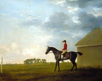 Gimcrack with John Pratt up on Newmarket Heath, c.1765
