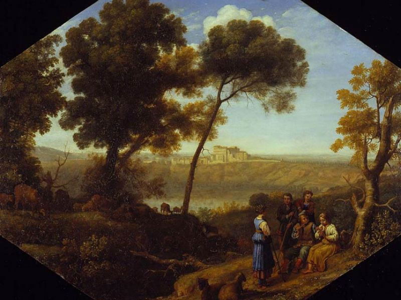 Highlight image for *Pastoral Landscape with Lake Albano and Castel Gandolfo*