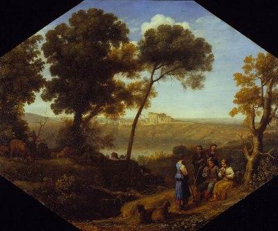 Pastoral landscape with Lake Albano and Castel Gandolfo, 1639