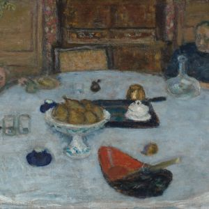 Portrait of a family eating a meal - Le repas by Pierre Bonnard