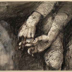 Study Of Hands, (1944) Keith Vaughan