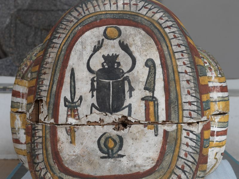 Detail from Outer Coffin of Pa-Kepu, a water pourer from Thebes