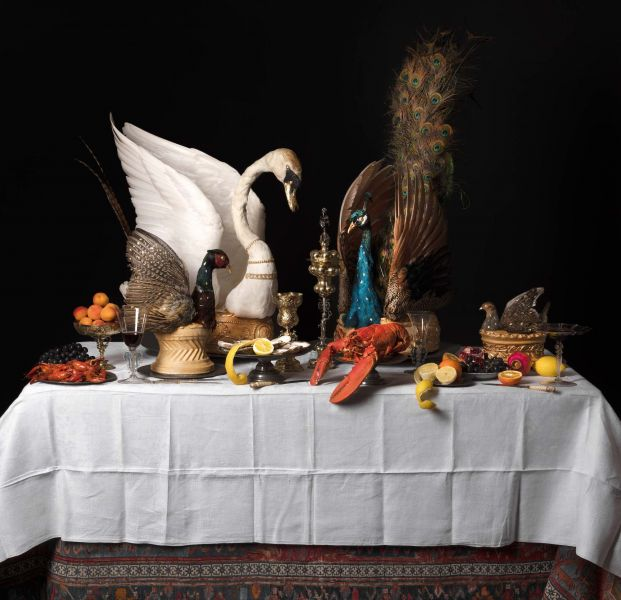 Baroque feasting table by Ivan Day