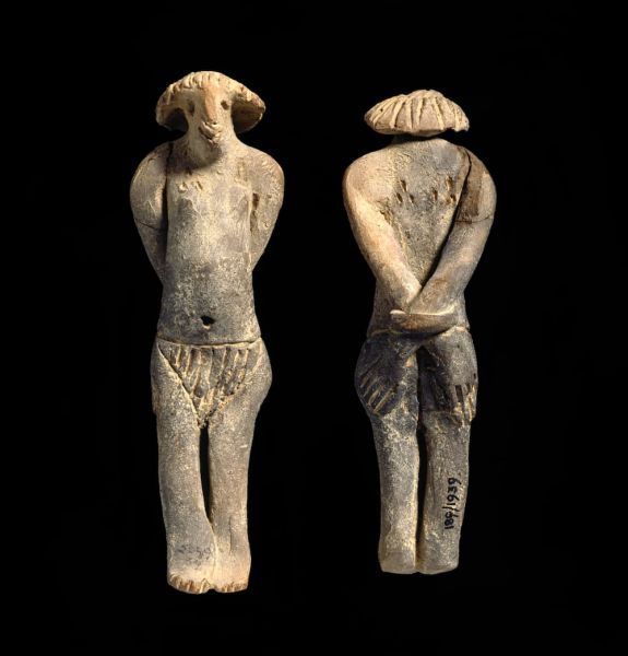 Clay execration figure. Production Egypt. Find SpotProduction Place Egypt. Length 12cm, circa 2160 to circa 1650 B.C. First Intermediate Period-Middle Kingdom