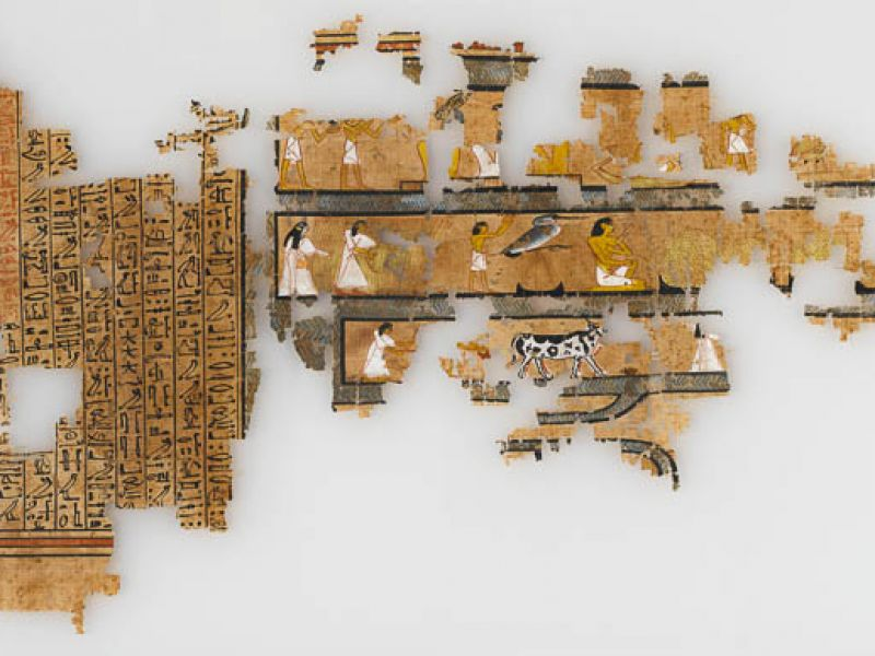 Papyrus fragment from the book of the dead of Ramose