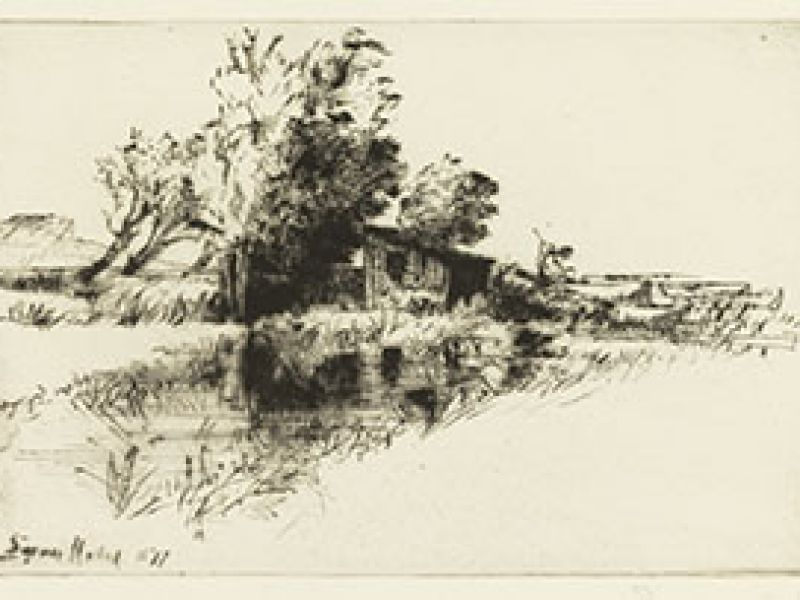 Francis Seymour Haden (1818-1910), The Little Boat House, c.1877