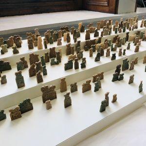 Assemblage of eye idols