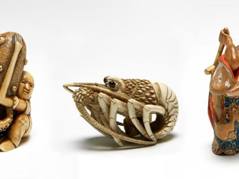 Three objects from Netsuke: Japanese Art in Miniature