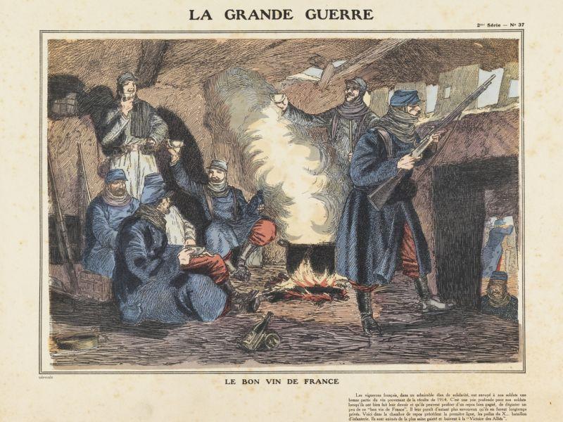 Unknown artist, Le bon vin de France (1915)