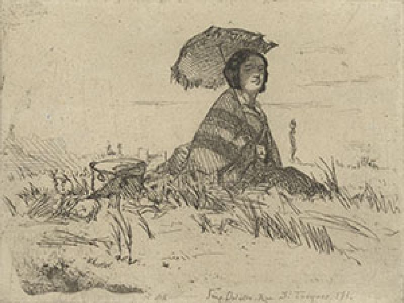 Image: James McNeill Whistler (1834-1903), En Plein Soleil, from 'Twelve Etchings from Nature'
