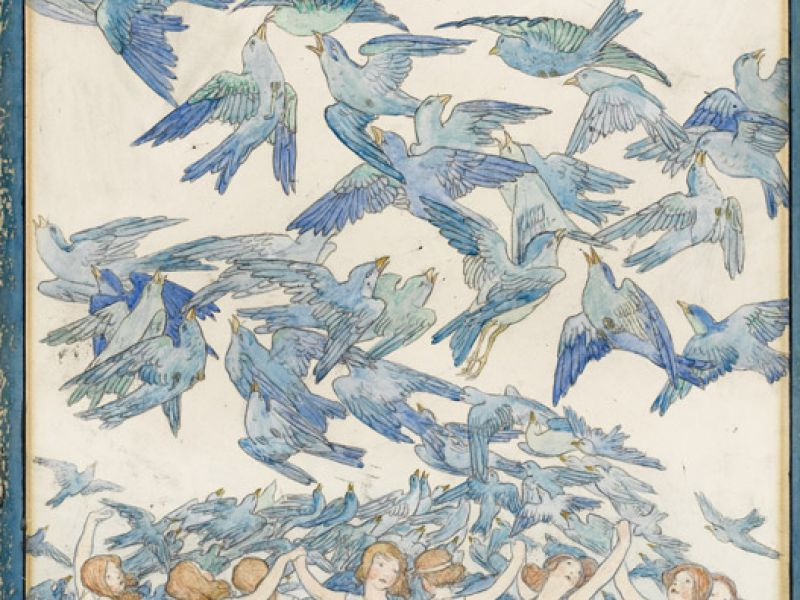The Blue Bird Poster Design by Frederick Cayley Robinson