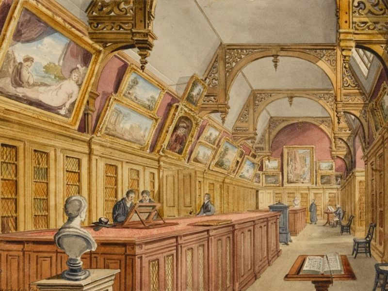 The Fitzwilliam Collection, Housed in the Perse Hall, Old Perse Grammar School, Cambridge, c. 1822–25