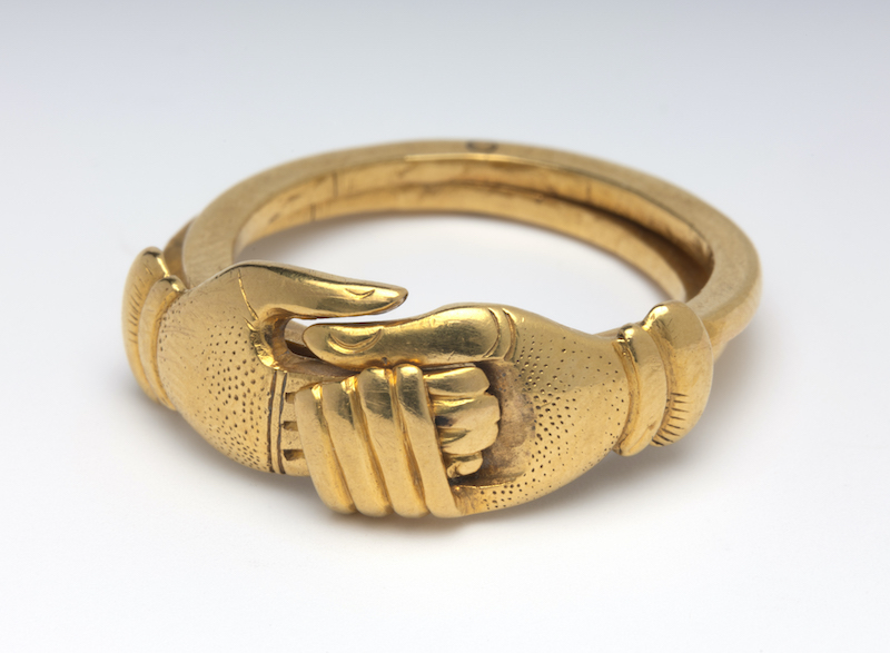 A gimmel ring with fede motif: Fitzwillam Museum