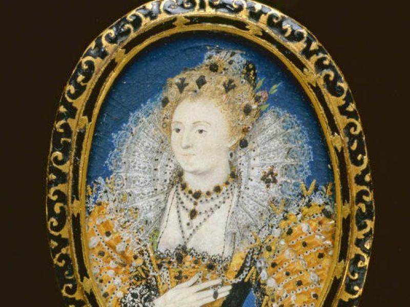 A miniature of Queen Elizabeth I