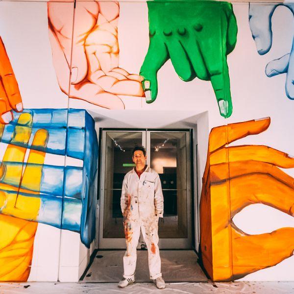 Giacomo Bufarini Run With His Mural My Many Hands (2020) © Nelly Duff 2021