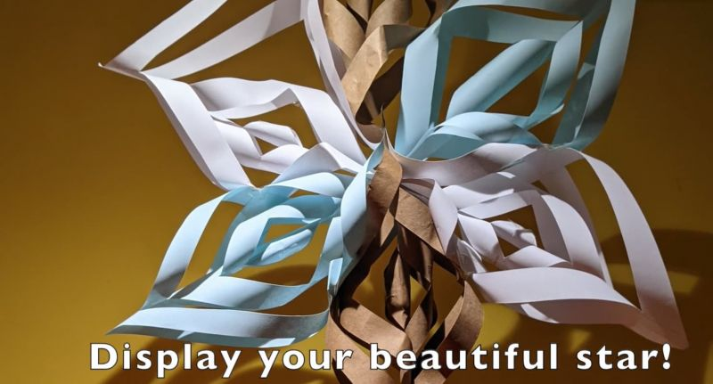 Featured image for the project: Make your own star decoration
