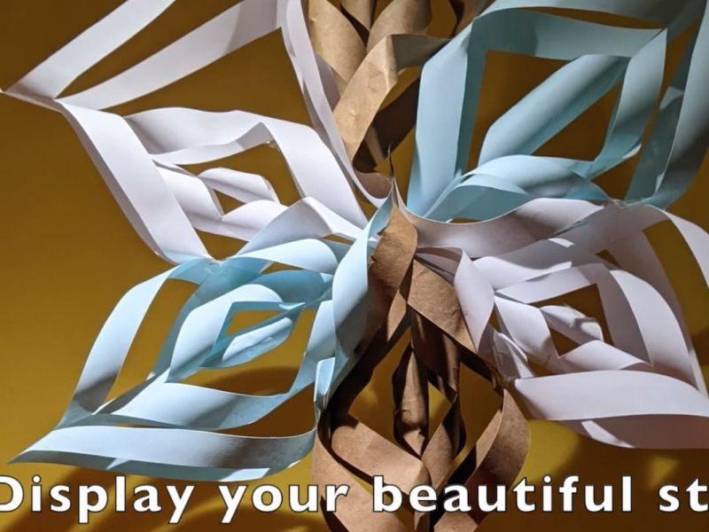 Highlight image for Make your own star decoration