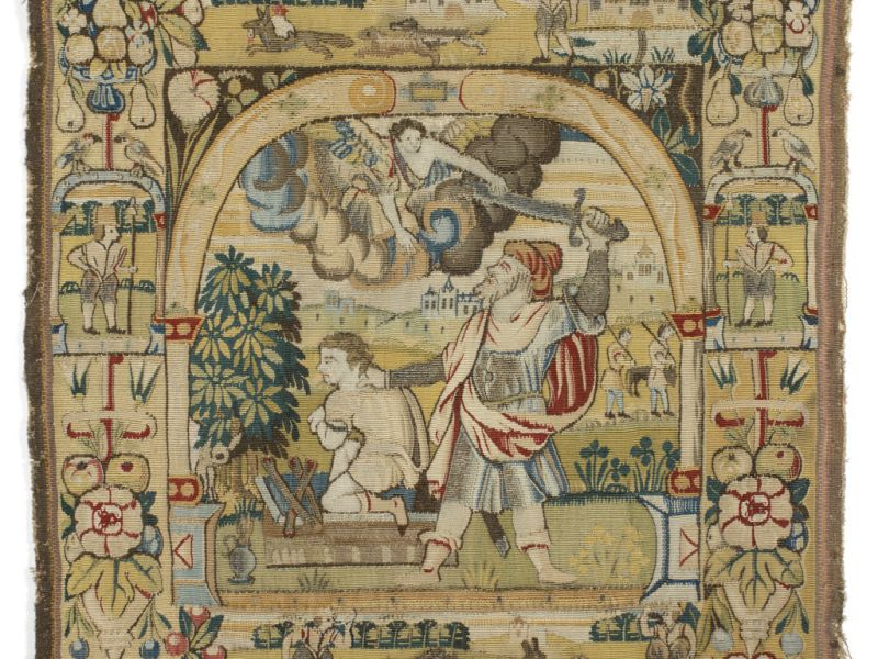Tapestry of Abraham about to strike Isaac, T.7a-1961
