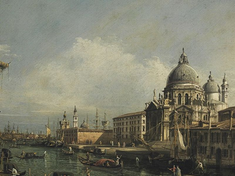 View of the Grand Canal in Venice by Canaletto (PD.106-1992)