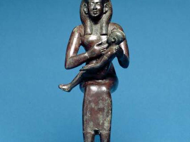 Seated figure of Isis nursing Horus Egypt, 200-100 BC The Fitzwilliam Museum, Cambridge E.122.1954